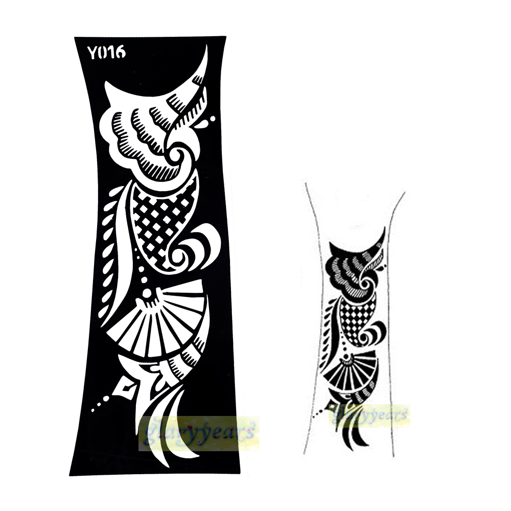 Buy 1pc professional indian flower lace for Henna temporary tattoo stencils