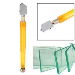 Cortador de vidrio de aleación dura rellena de aceite, herramienta de corte de diamante de vidrio con hoja de cúter de espejo de azulejo DIY para corte de vidrio de 3-12mm