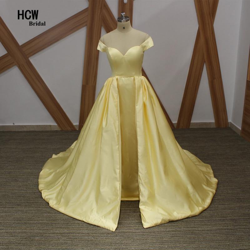 Без гръб светло жълта дълга вечерна рокля 2019 капачка ръкав сатенен пухкав дължина на пода официална рокля халат De Soiree проста вечерна рокля