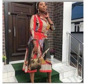 Image 5 - שמלות אפריקאיות נשים אפריקאי בגדים אפריקה שמלת הדפסת דאשיקי גבירותיי בגדי אנקרה בתוספת גודל אפריקה נשים שמלה