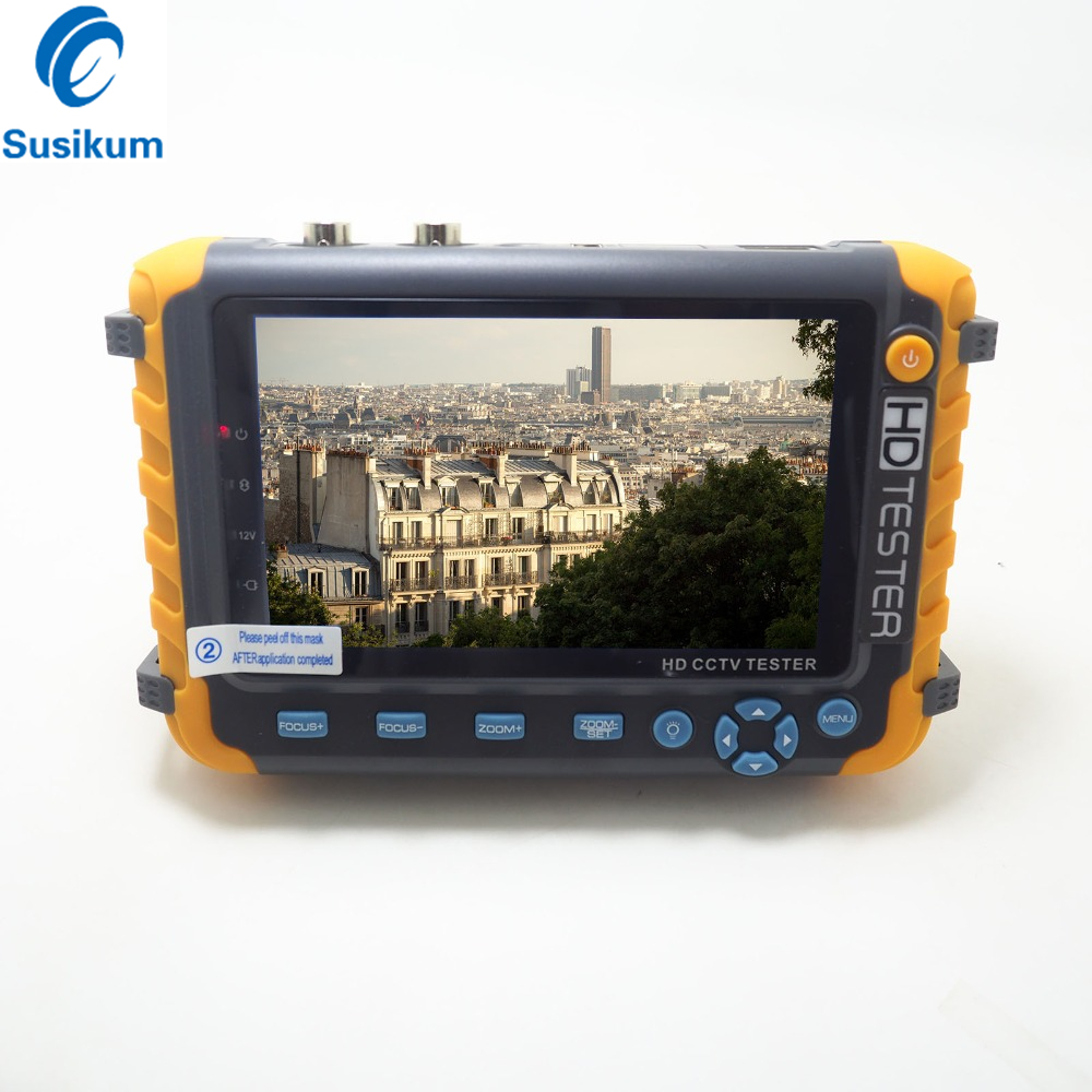 2MP 4 IN 1 TVI AHD CVI Analog CCTV Camera Tester 5 Inch TFT LCD Build In Battery Security Tester Monitor Video Audio Test