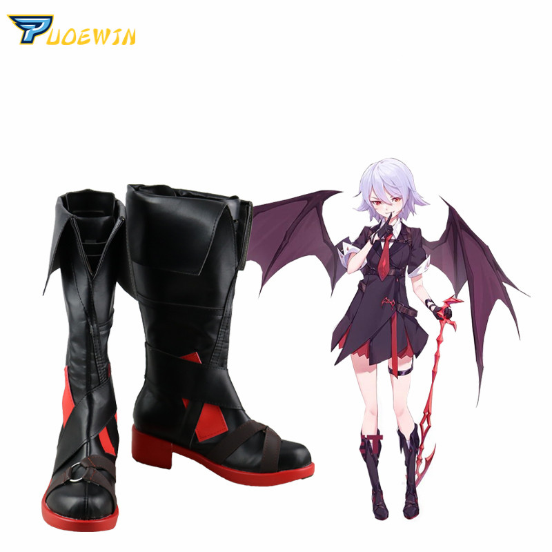 Touhou Project Remilia Scarlet Cosplay Boots Shoes Custom Made