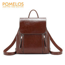 POMELOS Women Backpack High Quality Split Leather Rucksack Fashion New Female Bagpack Woman Travel Girls