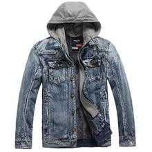 Hot Sale Men Denim Jacket Winter Men Jackets Plus Thick Velvet Denim Jacket Casual Jacket Men Outwear Coat Man's Jeans Clothing