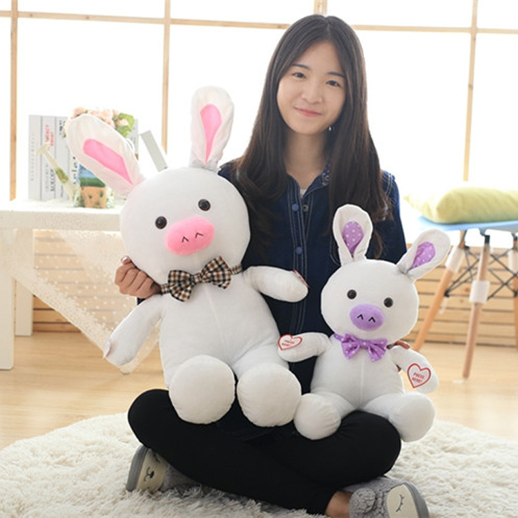 Can Record Repeat 1pc 50cm pig rabbit plush toy cuddly doll 2 Color animal pillow  Girl Kids birthday Christmas Gift