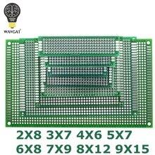 9x15 8x12 7x9 6x8 5x7 4x6 3x7 2x8 см двухсторонний прототип Diy универсальная печатная плата печатной платы для Arduino