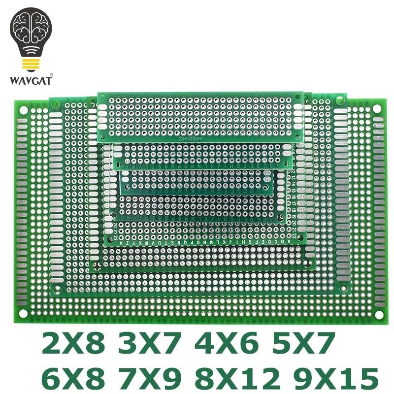 9x15 8x12 7x9 6x8 5x7 4x6 3x7 2x8 cm Double Side Prototype Diy Universal Printed Circuit PCB Board Protoboard For Arduino9x15 8x12 7x9 6x8 5x7 4x6 3x7 2x8 cm Double Side Prototype Diy Universal Printed Circuit PCB Board Protoboard For Arduino