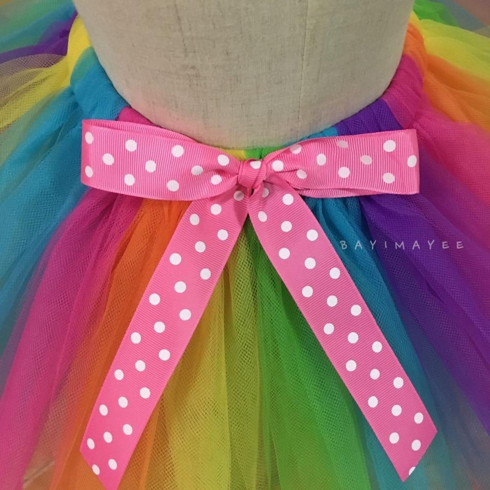 Faldas de tutú con arco iris para bebés Faldas de tul para ballet - Ropa de ninos - foto 5