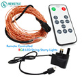 10m  Led String Starry Lights +12v Power + Remote Control for Christmas Wedding Party Garland Decoration led lights
