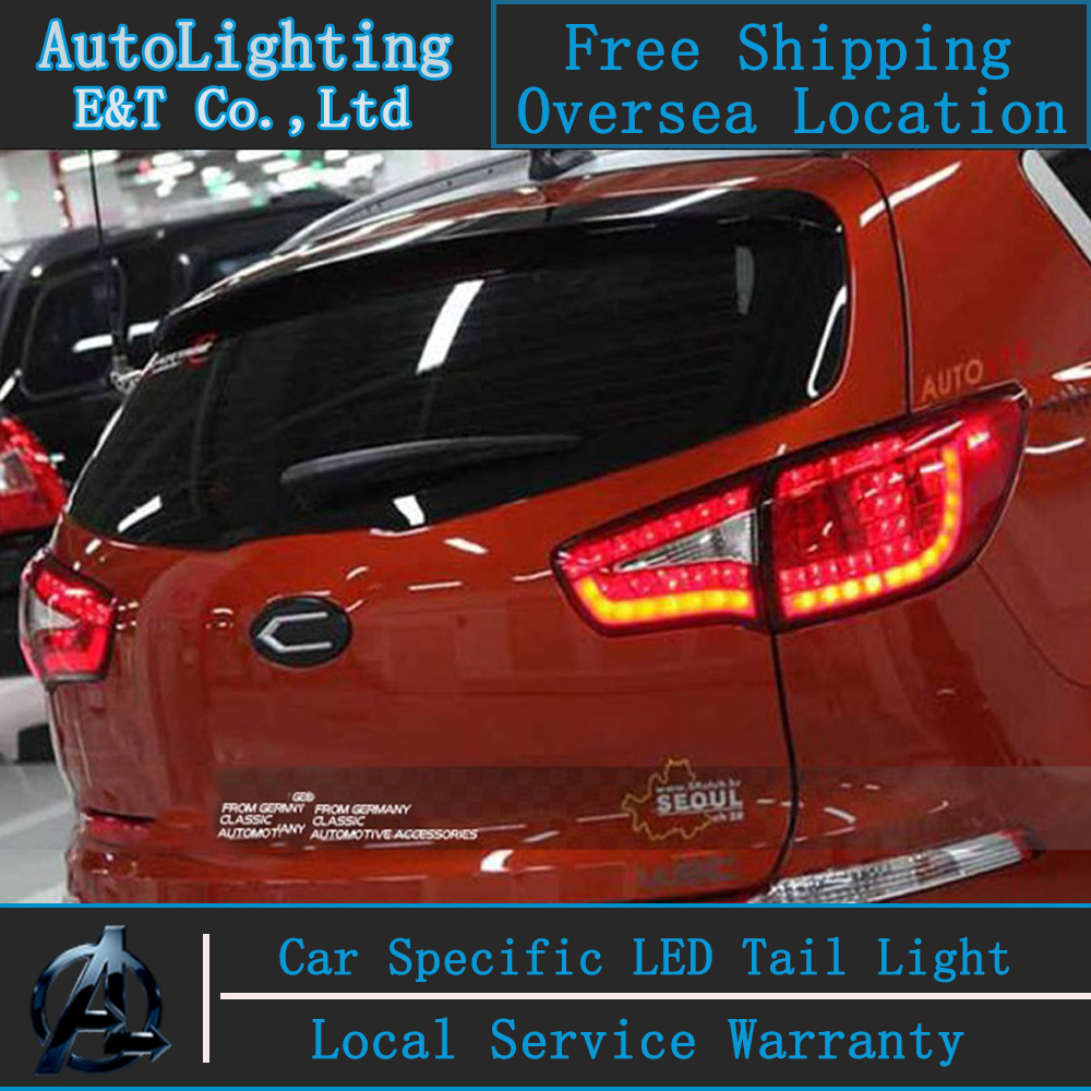Auto Lighting Style LED Tail Lamp for Kia Sportage R led taillight assembly 2011-2013 rear lamp sportager drl light with 4pcs. car styling for hyundai accent led taillight assembly 2011 2013 solaris tail light verna rear lamp drl brake with hid kit 2pcs