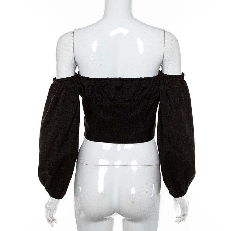 Off Shoulder Shirt Women12