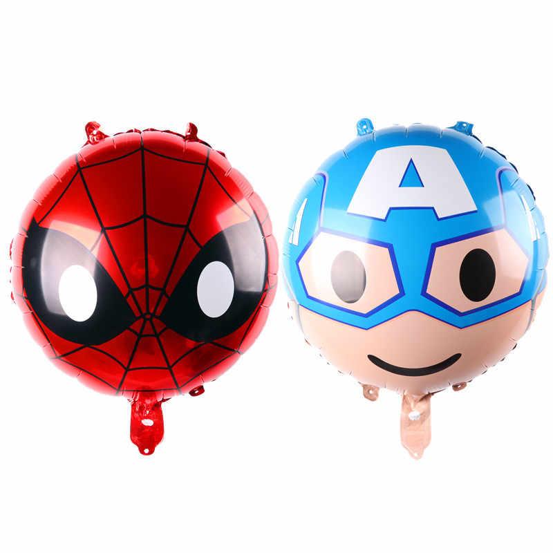 ee02af48 Супергероя детская игрушка Капитан Америка Супермен Человек-паук гелием воздушный  шар украшения вечерние оптовая продажа