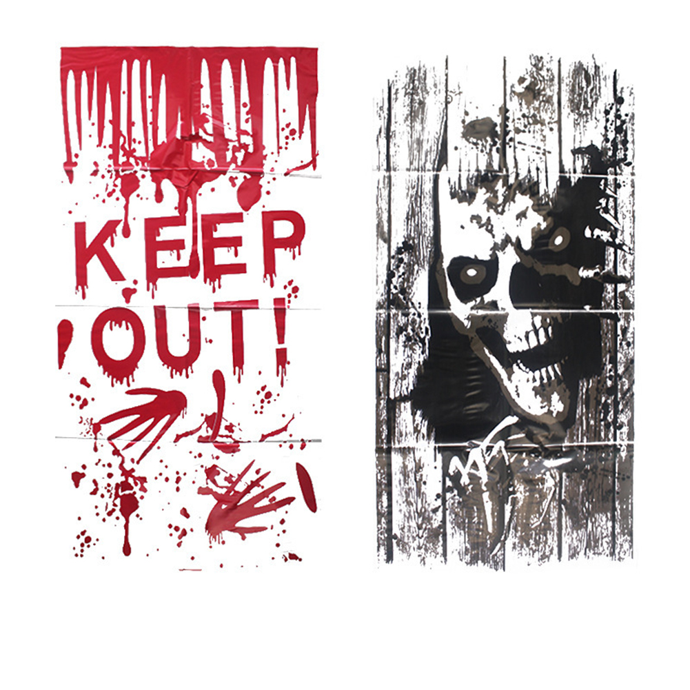 2017 new halloween wall sticker red bloody handprint toilet skeleton for party home decoration halloween decoration - Bloody Halloween Decorations