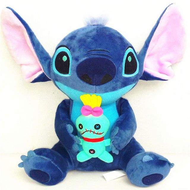 Kawaii Stitch Plush Toys 23cm Big Lilo and Stitch Stich Plush Toy Soft Stuffed Animal Doll Kids Peluches Toys Christmas Gift