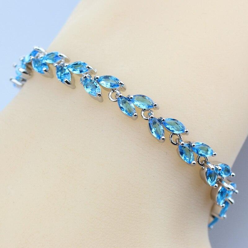 Top Quality 925 Silver Color Link Chain Bracelet Light ...