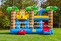 2016 vendas diretas da Fábrica corrediças Infláveis, castelo Inflável. Castelo combinação slide. Macaco pulando KYB-162