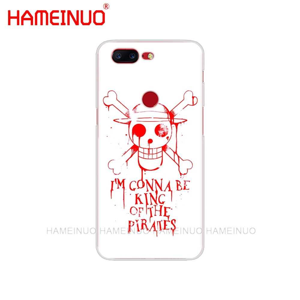 HAMEINUO una pieza piratas logotipo Anime de dibujos animados cubierta del teléfono para el Oneplus one plus 6 5 T 5 3 t 2 X A3000 A5000