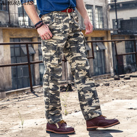 AIRGRACIAS Hot New Men S High Quality Army Pants Multi Pockets Cargo Pants 100 Cotton Men
