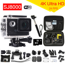 New 2016 WiFi Wireless Sports DV 4K 24fps HD 1080P Action Camera 30M Waterproof Video Camcorder Extreme Mini Camera Car DVR