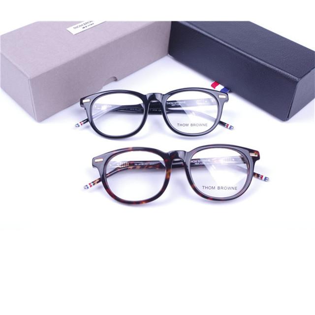 Retro Rodada Quadro TB-403C Thom Browne óculos moldura para homens ou mulheres óculos de armação óculos de miopia óculos embalagem original