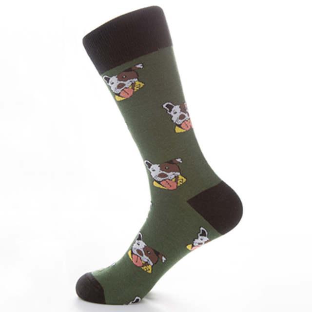 429cf7395293b PEONFLY New Arrival of Colorful Dog Bunny Men's Socks Novelty Fun Funny Men  Socks Wholesale Cheap
