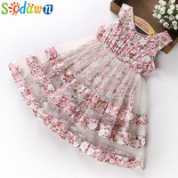 Sodawn 2018 Summer Party Dresses For Girls Wedding Dresses Floral Print Kids Dresses Summer Sundress 5
