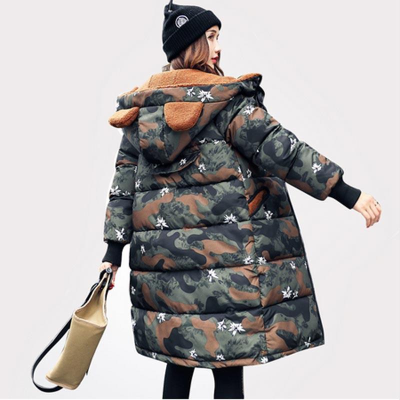 Di Tuta Imbottita Sportiva 1 Wome Camouflage Qh0258 6 Medio Plus Parka Cotone Inverno 2017 5 4 Size 3 Giacca 2 Incappucciato lungo Thickers Della Femminile 0gXTw