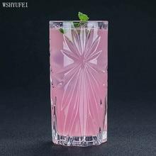 WSHYUFEI Art Выгравированный длинный напиток Коктейль стекло Колин Хайбо чашка для воды коктейль с соком стекло