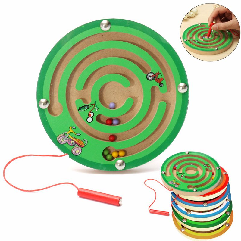 Toy Game Store In Lone Tree: New Arrival Children Round Wooden Puzzle Magnet Beads Slot