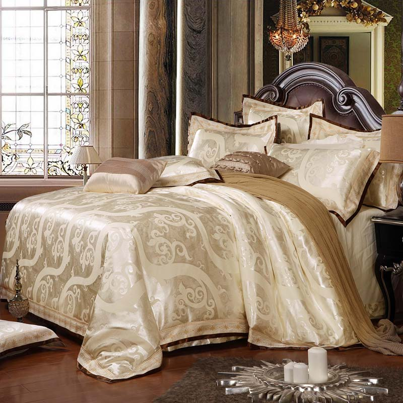 Heimtextilien Bettwäsche Set Jacquard Luxus Baumwolle Bett Set - Haustextilien - Foto 3