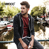 SIMWOOD 2018 Spring New Hoodies Jacket Men Casual Zipper Sweatshirts Kangaroo Pocket Slim Fit Plus Size