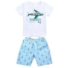 9238c4c68a707c Kinder   big jungen mädchen sommer goemetric brief druck baumwolle casual t- shirt mit bermuda