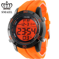 Fashion Casual Watches Men Orange LED Digital Watches Sports Alloy Clock Male Automatic Date Watch Army Men's Wristwatch WS1145