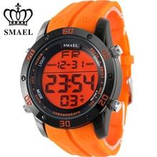 Mode Casual Montres Hommes Orange LED Numérique Montres de Sport Alliage Horloge Mâle Automatique Date Montre Armée Hommes de Montre-Bracelet WS1145