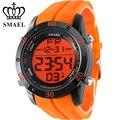 Moda casual relojes hombres aleación de orange led digital relojes deportivos reloj hombre automático fecha reloj de los hombres del ejército reloj ws1145