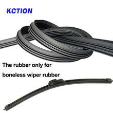 KCTION 1pcs Diy car wiper blade Strips,soft wipers rubber,Boneless Rubber,Size14161718192021222426283032