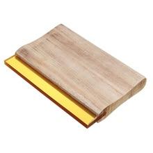 6 inch Length Screen Printing Squeegee Wooden Handle Silk Craft Screen Printing Scraper Ink Scraper Blade