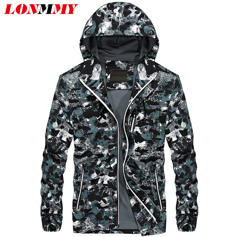 Expressive Lonmmy M-4xl Hooded Jackets Mens Casual Camouflage Slim Fit Military Mens Jackets And Coats Army Outerwear 2018 Autumn Spring Pure And Mild Flavor Men's Clothing