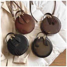 Designer Women Mini Round Bags Crocodile Pattern Messenger Crossbody Bag Circle Lady Top-handle Handbag Purses Day Clutches