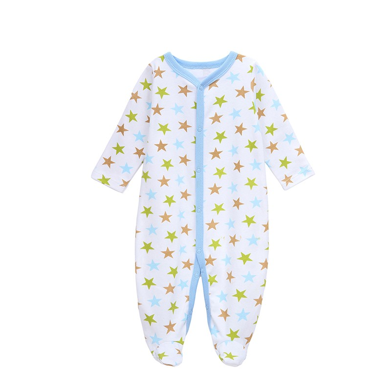 Mother Nest Long-Sleeved Baby Infant Cartoon Footies Baby Rompers for Boys Jumpsuits Clothing Newborn Clothes