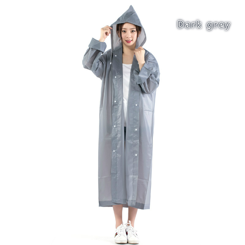 3c85b9b35 Thicker Models Fashion Women EVA Transparent Raincoat Poncho ...