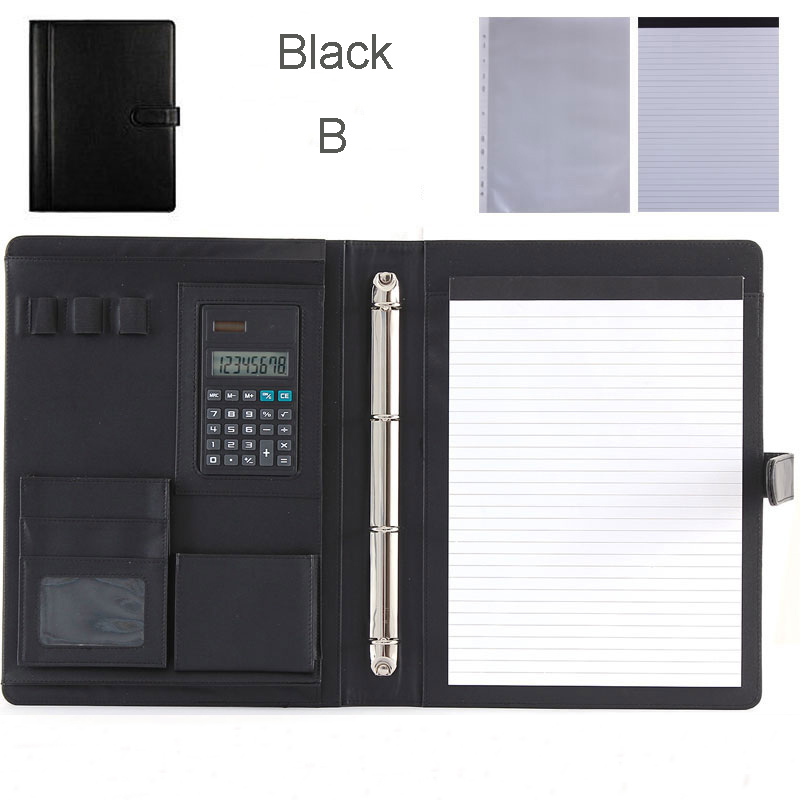 Multifunctional File Folder A4 , High Quality PU Leather File Folder, 4-rings Document Folders, Folder For Documents, 1200A