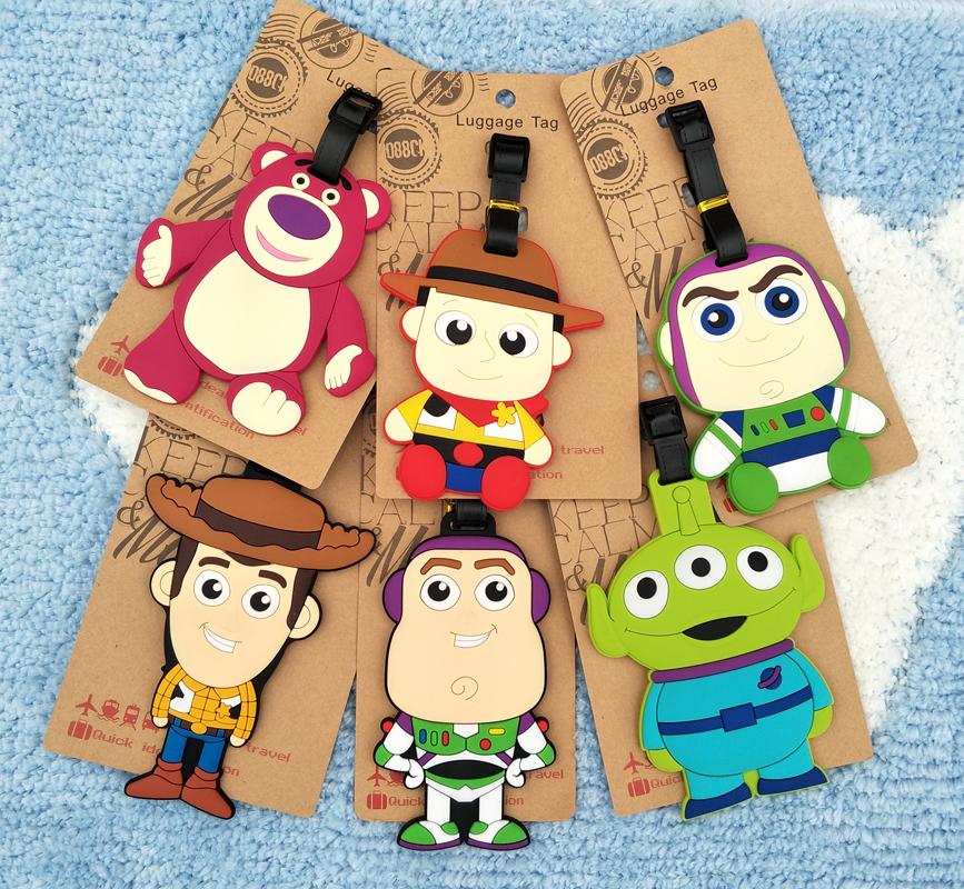 IVYYE Toy Story Anime Travel Accessories Luggage Tag Suitcase ID Address Portable Tags Baggage Labels Gifts New