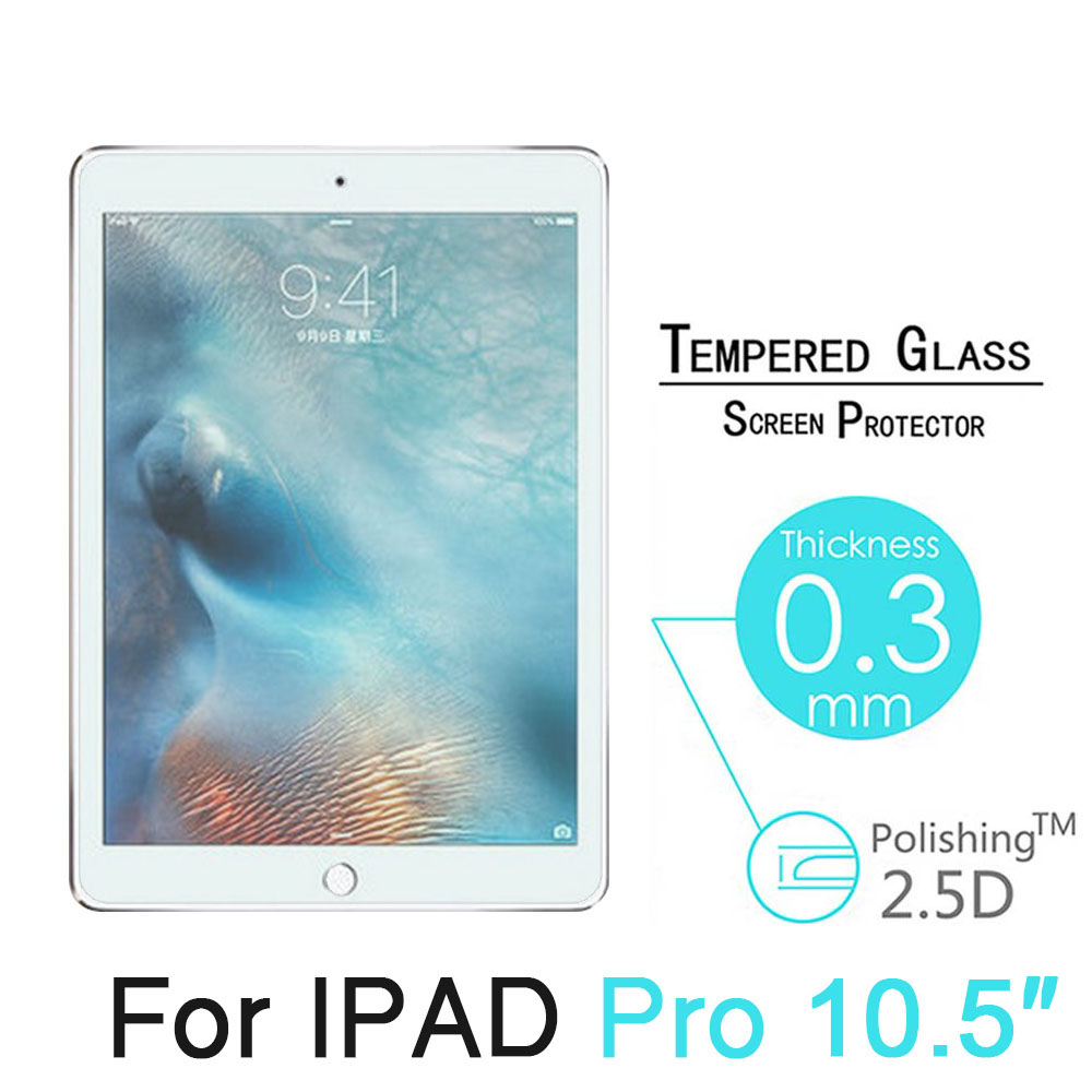 For Apple iPad Pro 10.5 Screen Protector Tempered Glass High Clear Ultra-thin 9H Hardness Polishing Glass For Apple iPad 9.7'' акриловая ванна ravak avocado 160 левая без гидромассажа cq01000000