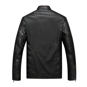 Image 4 - Mountainskin Mens Winter Autumn Casual Leather Jacket Fitness Motorcycle Faux Leather Bomber Jacket Male Outerwears LA766