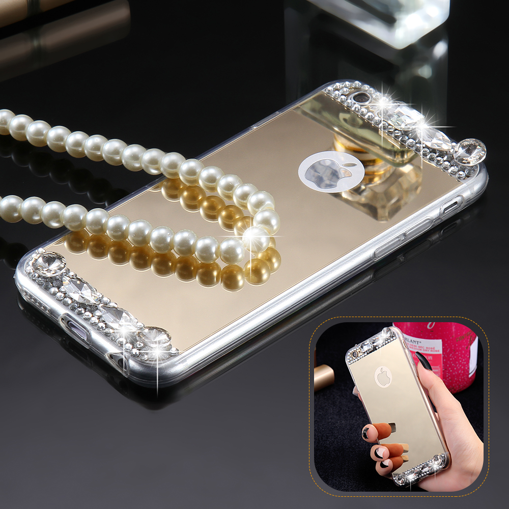 mirror iphone 7 plus case. aliexpress.com : buy kisscase diamond mirror case for iphone 7 6s 6 plus 5s se handmade rhinestone crystal acrylic cover apple x from iphone m