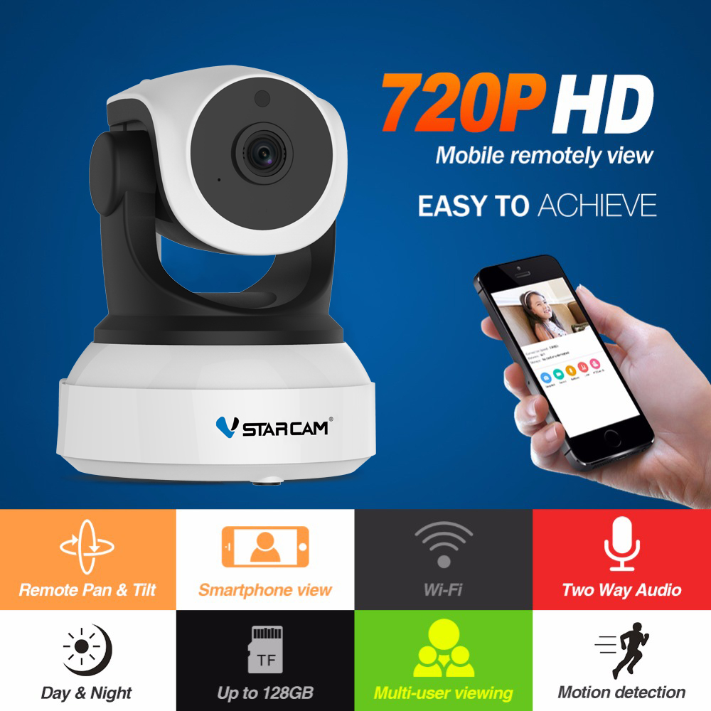 Wi-fi Video Surveillance Night Security Camera Network Indoor Baby Monitor C7824WIP 1