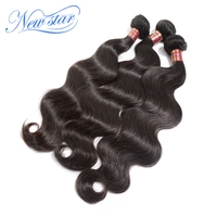 Unprocessed new star hair products 3pcs/lot Best quality peruvian virgin hair body wave extension machine weft hair weaves