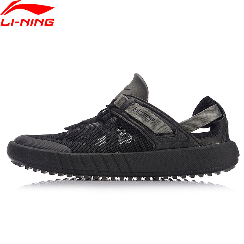 Li Ning Men WATER 2018 Outdoor Aqua Shoes Breathable Wearable Beach LiNing Light Weight Water Sandals Sneakers AHLN001-in Upstream Shoes from Sports & Entertainment