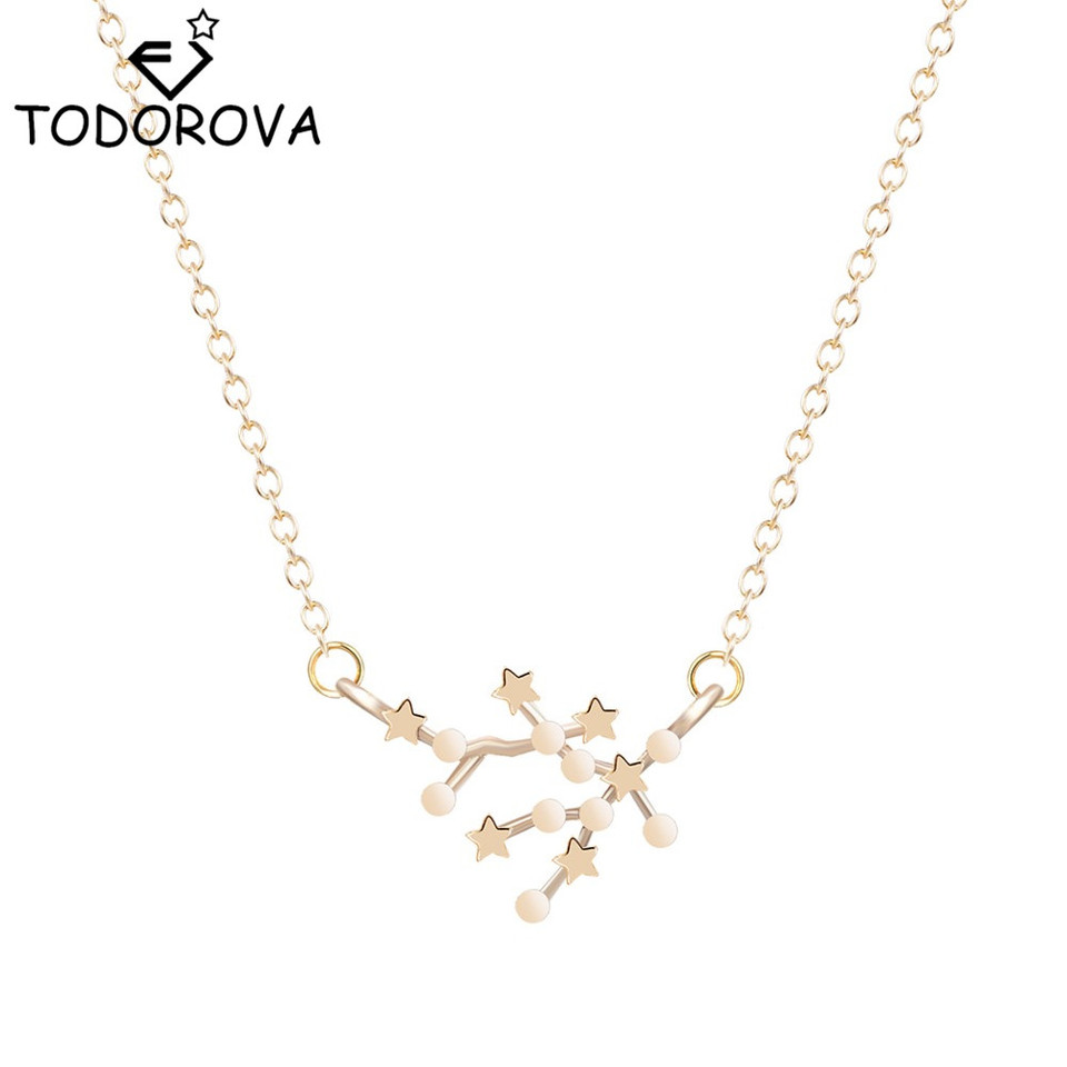 Todorova Trendy 12 Constellation Pendant Necklaces For Women Star Gemini Zodiac Signs Astrology Necklace Girls Party Gift Necklace Girl Necklaces For Womenpendant Necklace Aliexpress